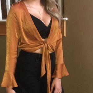 Tops - Burnt Orange Crop Top ONLY WORN ONCE